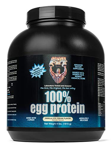 (Healthy 'N Fit 100% Egg Protein- Vanilla (4lb): 100% Egg White Protein Plus Natural Peptides. The Highest Quality, Purest, Most Effective, All Natural Protein.)
