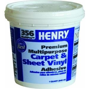 Henry HY356CQT 1 Quart Multipurpose Carpet & Sheet Vinyl Adhesive (Flooring Adhesive Sheet)