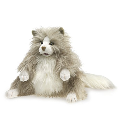 - Folkmanis Fluffy Cat Hand Puppet