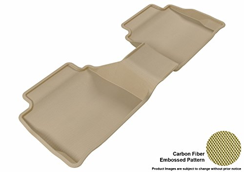 3D MAXpider Custom Fit Second Row All-Weather Floor Mat for Select Ford Fusion/ Lincoln MKZ Models – Kagu Rubber (Tan)