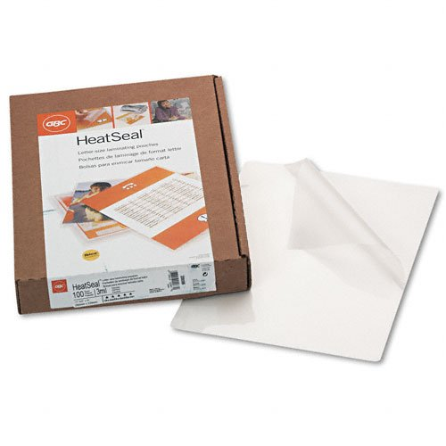 GBC : HeatSeal Laminating Pouches, 3mm, 8-1/4 x 11-1/4, 100/Box -:- Sold as 2 Packs of - 100 - / - Total of 200 Each