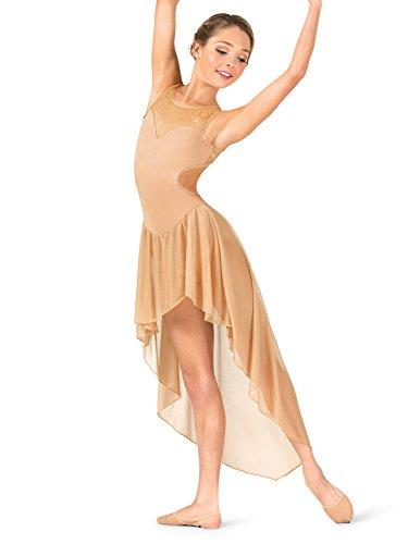 Womens Performance Twinkle Mesh High-Low Tank Dress TW615ROYM Royal Medium ()