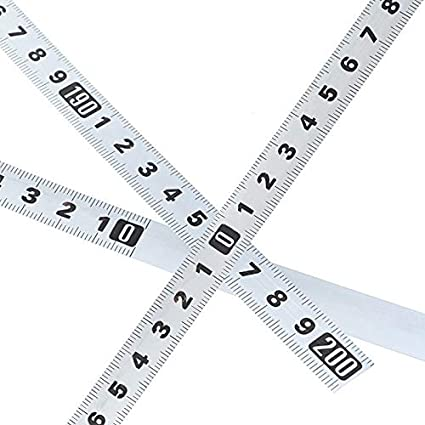 JIANGQIAO M/étricas Mitre Pista Cinta m/étrica 0,5  de Acero Auto-Adhesivo de Regla de la Escala de Cinta 1-5m for Router Sierra de Mesa T-Track Herramientas for Trabajar la Madera Size : SS 1M F