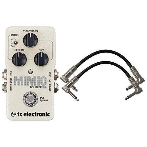 TC Electronic Mimiq Doubler Guitar Effects Pedal w/ 2 Patch Cables