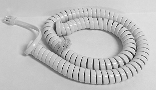 The VoIP Lounge 12 Foot White Handset Receiver Curly Coil Cord for Panasonic KXT KXDT KXNT Phone