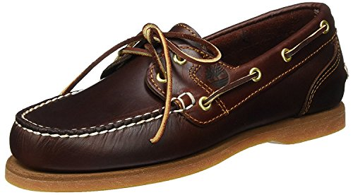 Timberland Womens Amherst Boat Shoe, Rootbeer Smooth, 39 B(M) EU/6 B(M) UK