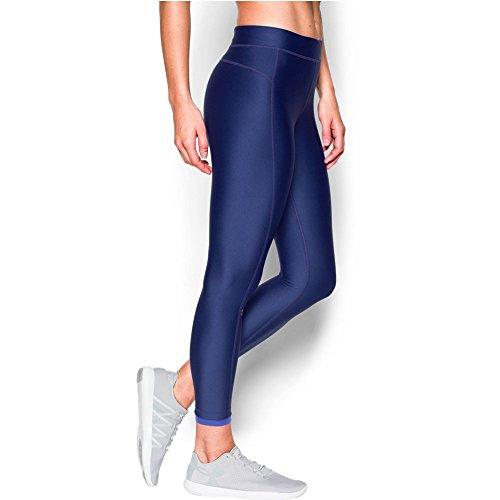 Under Armour Women's HeatGear Armour Ankle Crop, Europa Purple (540)/Metallic Silver, X-Large (Crop Pocket Ankle)
