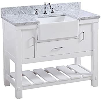 Charlotte 42 Inch Bathroom Vanity Carrara White