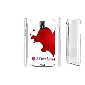 FUNDA CARCASA I LOVE YOU LIQUID PARA SAMSUNG GALAXY NOTE 3 N9005