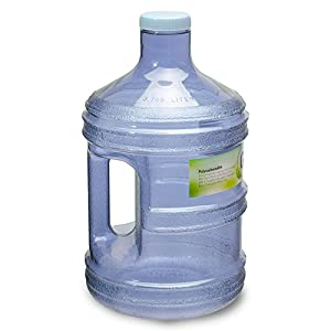 1 Gallon PC Reusable Plastic Drinking Water Bottle Jug Container - Dark Blue.