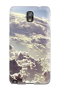 Snap-on Case Designed For Galaxy Note 3- In The Clouds Fluffy Up Air Nature Other