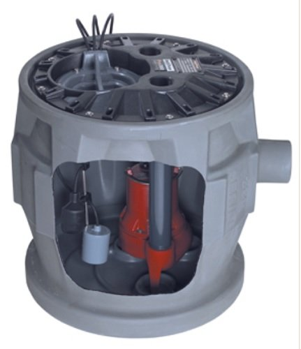 Liberty Pumps P382LE51/A2-EYE 1/2 hp Pre-Assembled Simplex Sewage System with NightEye Technology, 10' Cord and 2'' Discharge by Liberty Pumps