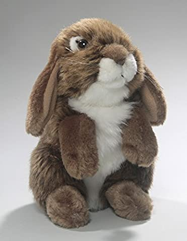 Stuffed Animal Rabbit Bunny standing brown, 7 inches, 18cm, Plush Toy, Soft Toy - Bunny Rabbit Toy