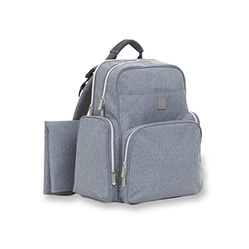 ErgoBaby Anywhere I Go Diaper Bag Backpack for Women - Interior Organization Pockets - Roomy, Ergonomic Design – Soft Back Padding - Includes Diaper Changing Pad - Grey by Ergobaby