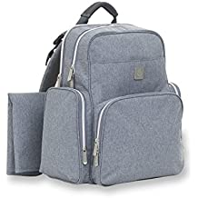 ErgoBaby Anywhere I Go Diaper Bag Backpack - Unisex Design - Interior Organization Pockets - Roomy, Ergonomic Design – Soft Back Padding - Includes Diaper Changing Pad - Grey