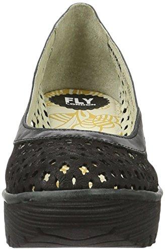 Fly London Yika733fly Sandali Con Zeppa Donna Nero black black 000