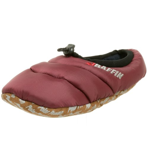 Baffin Unisex Cush Insulated Slipper,Merlot,X-Large (Men's 9-10 M US / Women's 11 M US)
