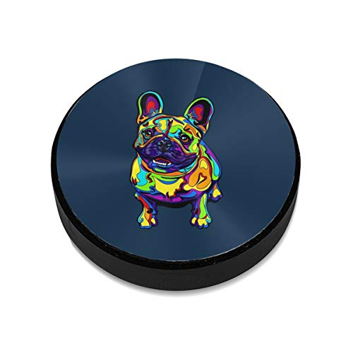 (HETTM Magnetic Phone Car Mount French Bulldogs Art Universal 360¡ã Rotation Car Dashboard Stand with Super Strong Magnet Compatible Phone Mini Tablet and More)
