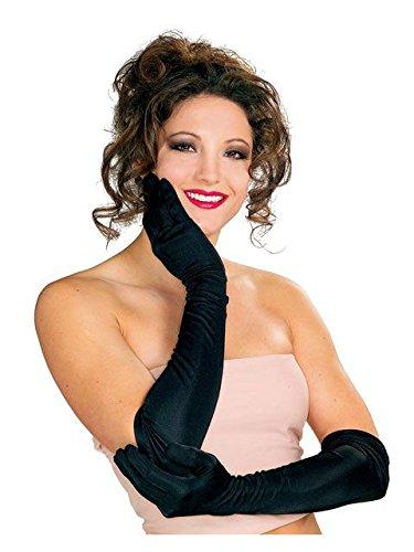 Secret Wishes Long Black Nylon Costume Gloves, Black, One Size -