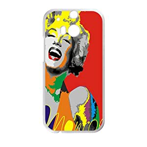 Marilyn colour Case Cover For HTC M8 Case