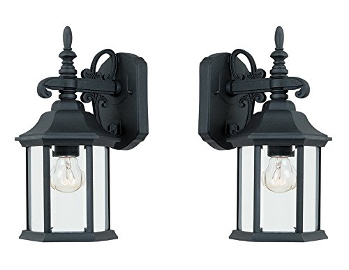 Designers Fountain 2961-BK Devonshire Wall Lanterns, Black