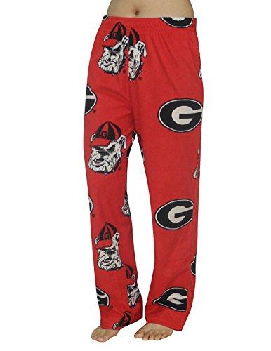 NCAA Georgia Bulldogs WOMENS Polar Fleece Sleepwear Fall / Winter Pajama Pants M Multicolor - Bulls Pajamas Women