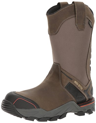 - Irish Setter Work Men's Crosby Nano Toe Waterproof Pull-on Work Boot, Gray, 12 D US