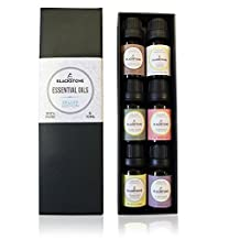 Blackstone Deluxe Essential Oils 100% Pure - Frankincense, Jasmine, Chamomile, Grapefruit, Clary Sage, Ylang Ylang