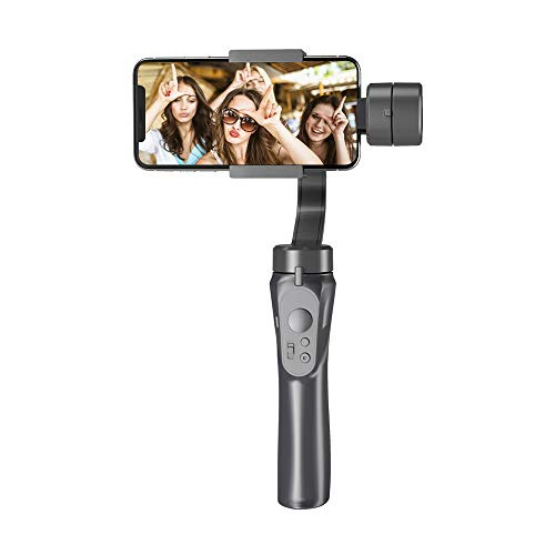 Andoer Gimbal 3-Axis Handheld Stabilizer Built-in Lithium Battery with USB Charging Ways for iPhone Xs Max/Xs/X/8 Plus/8/7/7 Plus Smartphone Samsung Huawei Xiaomi