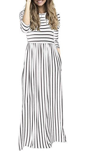 long black and white striped dress - 6