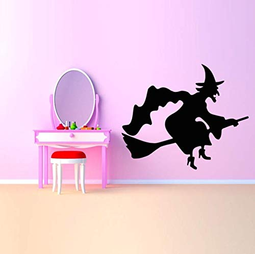 LJTSDA Witch Cartoon Poster Wall Stickers for Nursery Kids Room Removable Wall Decals Halloween Wallpaper Home Sticker Art Decor -