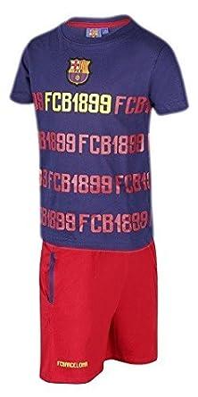 Pijama Adulto FC BARCELONA-BARÇA 1899 Manga Corta Talla S: Amazon ...