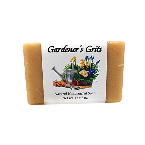 Garden Scrub Soap MEGA Bar by MoonDance Soaps - Handmade Soap with Exfoliating Grits and Essential Oils, 7 Ounce Bar