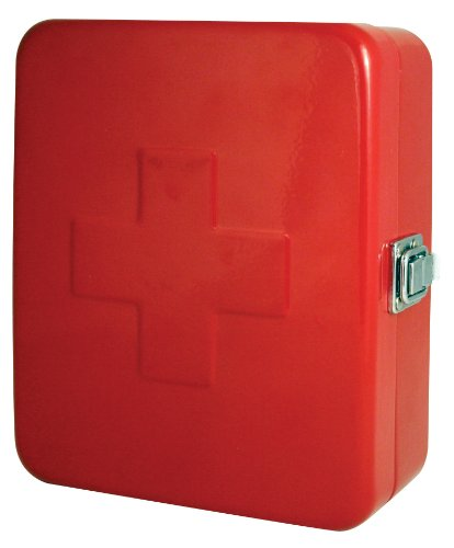 Kikkerland Empty First Aid Box, Red