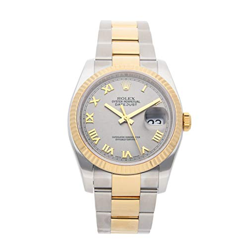 Rolex Datejust Mechanical (Automatic) Steel Grey Dial Mens Watch 116233 (Certified Pre-Owned)