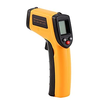 GAEA Non-Contact LCD Laser Infrared Digital Temperature Gun, Instant-Read Handheld IR Infrared Thermometer with Backlight