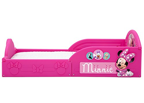 Delta Children Deluxe Disney Minnie Mouse Toddler Bed with Attached guardrails by Delta Children (Image #5)
