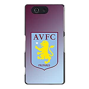 Cover Shell Aston Villa FC Mark Phone Case Fabulous Awesome Aston Villa Mark Printed Case Snap on Sony Xperia Z3 Compact