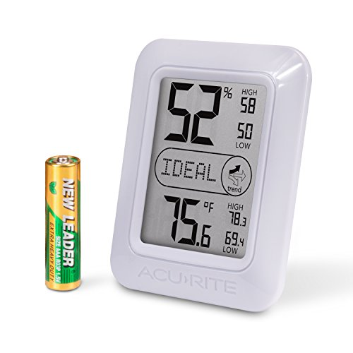 AcuRite 01131M Digital Hygrometer and Thermometer, White