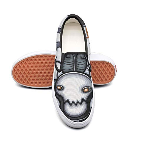 Sernfinjdr Women's Bull Skull Ghost Halloween Fashion Casual Casual Fashion Canvas Slip on Shoes Comfortable Running Sneakers B07H5JF3YR Shoes da8a99