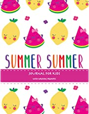 Summer: Summer Journal For Kids With Writing Prompts, Interactive Diary Scrapbook, Summer Bucket List Journal, Ages 8-12