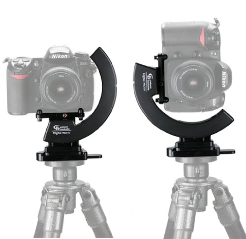 Custom Brackets Digital PRO SV Kit, Studio Version Rotating Camera Bracket for Digital & 35mm Film Cameras, with CMP Plate & QR Tripod QR Receiver ()