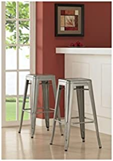 Tabouret 30-inch Metal Barstools (Set of 2).  sc 1 st  Amazon.com & Amazon.com: Tabouret 24-inch Lemon Metal Counter Stools (Set of 2 ... islam-shia.org