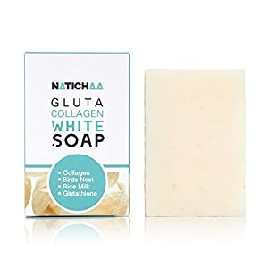 Glutathione & Collagen Whitening Soap - Reduce Wrinkles, Freckles, Dark Spots & Acne-Firm & Lightening Your Complexion For Body & Facial Skin - All Skin Types