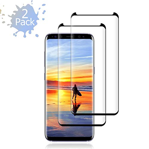 Galaxy S9 Plus Screen Protector,[2-Pack] Cafetec Tempered Glass Screen Protector with [9H Hardness][Easy Bubble-Free Installation][Anti-Fingerprint] Compatible with Samsung Galaxy S9 Plus.