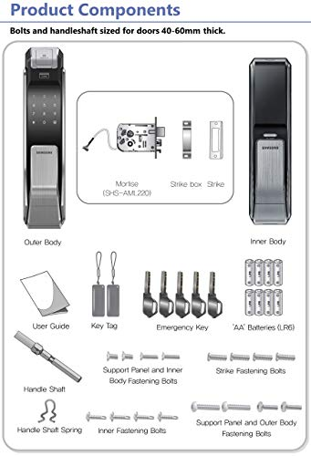 Samsung Shs P718 Lmk Push Pull Biometric Touchscreen