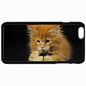 Customized Cellphone Case Back Cover For iPhone 5c, Protective Hardshell Case Personalized Cats Funny Cat Lol Cats Black