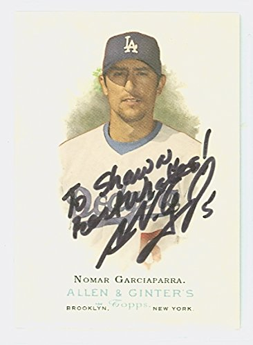 Nomar Garciaparra AUTOGRAPH 2006 Topps Allen and Ginter Los Angeles Dodgers PERSONALIZED