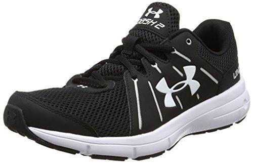 Under Armour Men's Ua Dash Rn 2 Running Shoes, Black Black (Black / White)