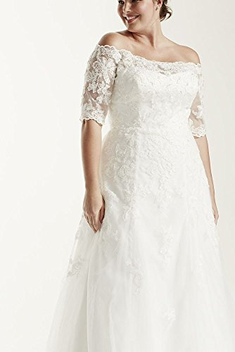 Style Sample Size Soft Wedding Dress AI12330010 Plus 3 is White 4 Sleeve As qrqZCpz